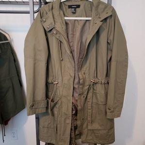 Forever 21 Utility Jacket w/ Hood